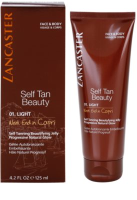 Lancaster Self Tan Beauty gel autobronzeador para corpo e rosto 1
