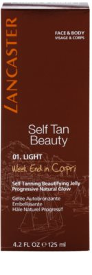 Lancaster Self Tan Beauty gel autobronzeador para corpo e rosto 2