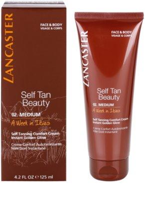 Lancaster Self Tan Beauty komfortní samoopalovací krém na tělo a obličej 1
