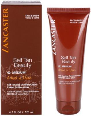 Lancaster Self Tan Beauty komfortable Selbstbräunercreme für Körper und Gesicht 1