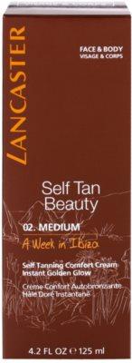Lancaster Self Tan Beauty komfortní samoopalovací krém na tělo a obličej 2