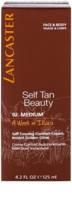 Lancaster Self Tan Beauty komfortable Selbstbräunercreme für Körper und Gesicht 2