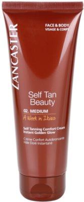 Lancaster Self Tan Beauty komfortní samoopalovací krém na tělo a obličej