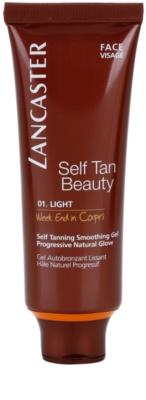 Lancaster Self Tan Beauty vyhlazující samoopalovací gel na obličej