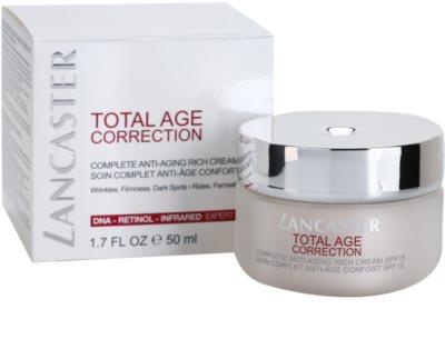 Lancaster Total Age Correction crema antiarrugas para pieles secas y muy secas 1