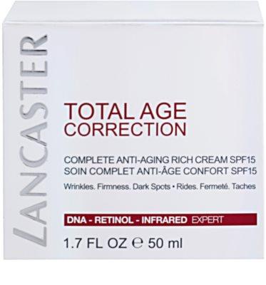 Lancaster Total Age Correction crema antiarrugas para pieles secas y muy secas 4