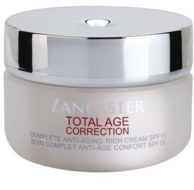 Lancaster Total Age Correction crema antiarrugas para pieles secas y muy secas