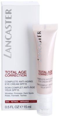 Lancaster Total Age Correction crema antirid pentru zona ochilor SPF 15 2