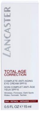 Lancaster Total Age Correction crema antirid pentru zona ochilor SPF 15 3