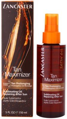 Lancaster Tan Maximizer óleo seco regenerador para prolongar bronzeado para rosto e corpo 2