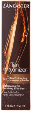 Lancaster Tan Maximizer óleo seco regenerador para prolongar bronzeado para rosto e corpo 4