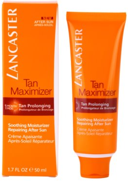 Lancaster Tan Maximizer zklidňující hydratační krém pro prodloužení opálení na obličej 1