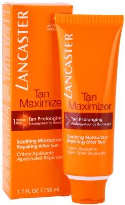 Lancaster Tan Maximizer zklidňující hydratační krém pro prodloužení opálení na obličej 2
