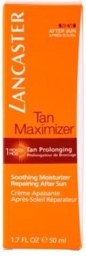 Lancaster Tan Maximizer zklidňující hydratační krém pro prodloužení opálení na obličej 3