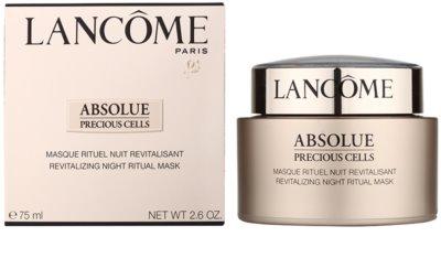 Lancome Absolue Precious Cells máscara revitalizadora para a noite para a renovação da pele 1