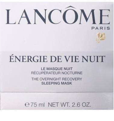 Lancome Énergie De Vie éjszakai megújító maszk fáradt bőrre 2
