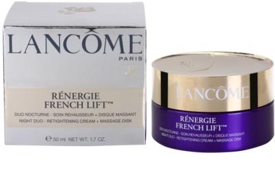 Lancome Rénergie French Lift crema de noapte cu disc pentru masaj 3