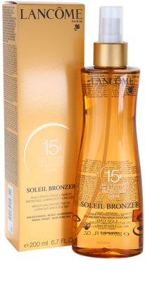 Lancome Soleil Bronzer aceite protector SPF 15 1