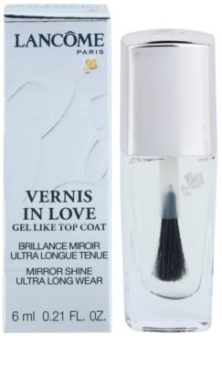 Lancome Vernis in Love топ защитен лак за нокти с гланц 1