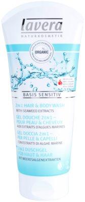 Lavera Basis Sensitiv gel de ducha para cabello y cuerpo