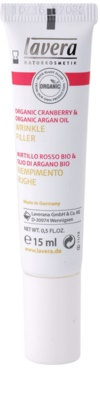 Lavera Faces Bio Cranberry and Argan Oil nährende Creme Für Lippen und Augenumgebung