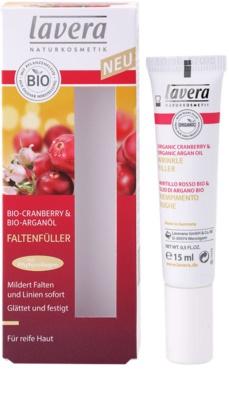 Lavera Faces Bio Cranberry and Argan Oil krem uzupełniający okolice oczu i usta 1