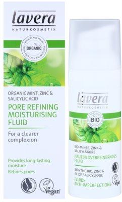 Lavera Faces Bio Mint fluido hidratante para pele oleosa 2