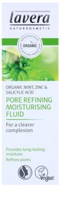 Lavera Faces Bio Mint fluido hidratante para pele oleosa 3