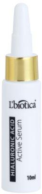 L'biotica Active Serum Hyaluronic Acid hidratáló és feszesítő ápolás regeneráló hatással