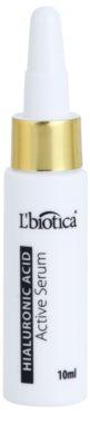 L'biotica Active Serum Hyaluronic Acid hydratační a zpevňující péče s regeneračním účinkem