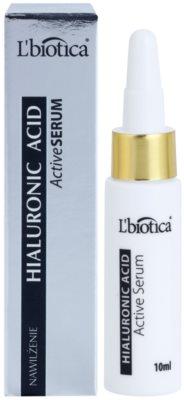 L'biotica Active Serum Hyaluronic Acid festigende Feuchtigkeitspflege mit regenerierender Wirkung 1
