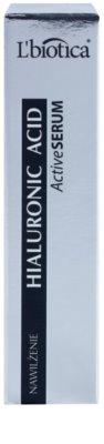 L'biotica Active Serum Hyaluronic Acid festigende Feuchtigkeitspflege mit regenerierender Wirkung 2