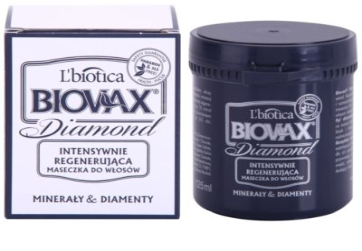 L'biotica Biovax Glamour Diamond stärkende Maske für ein perfektes Aussehen der Haare 1