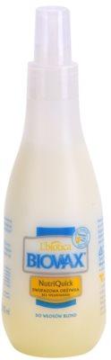 L'biotica Biovax Blond Hair spray hidratant in 2 faze pentru par blond