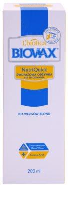 L'biotica Biovax Blond Hair spray hidratante bifásico para cabelo loiro e grisalho 2
