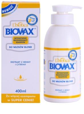 L'biotica Biovax Blond Hair osvetljevalni šampon za blond lase 1