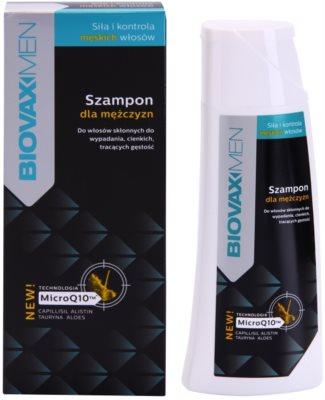 L'biotica Biovax Men зміцнюючий шампунь для росту та зміцнення волосся від корінців до самих кінчиків 1