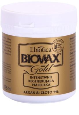 L'biotica Biovax Glamour Gold vlasová maska s arganovým olejem