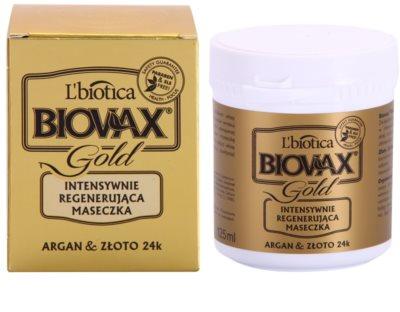 L'biotica Biovax Glamour Gold masca de par cu ulei de argan 1