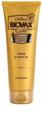 L'biotica Biovax Glamour Gold regenerační šampon s arganovým olejem