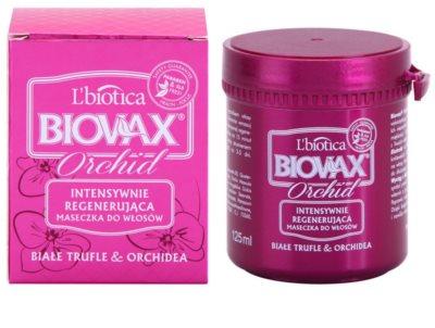 L'biotica Biovax Glamour Orchid máscara regeneradora para cabelo danificado 1