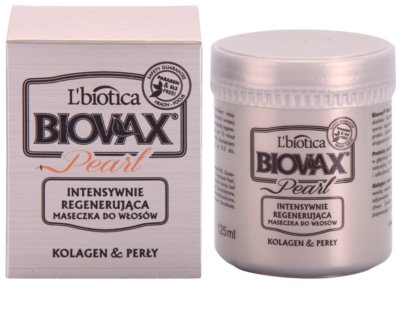 L'biotica Biovax Glamour Pearl regeneracijska maska za hidracijo in sijaj 1
