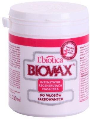 L'biotica Biovax Colored Hair regeneracijska maska za barvane lase