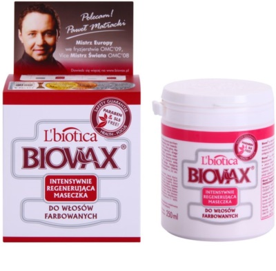 L'biotica Biovax Colored Hair регенерираща маска  за боядисана коса 1