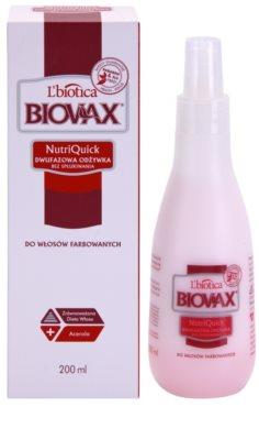 L'biotica Biovax Colored Hair двуфазен хидратиращ спрей за боядисана коса 1