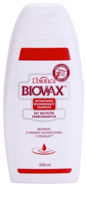 L'biotica Biovax Colored Hair champú nutritivo para cabello teñido