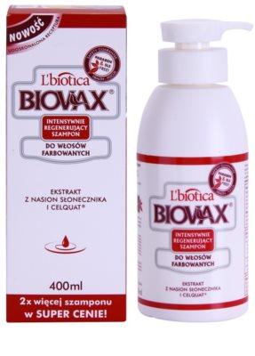 L'biotica Biovax Colored Hair nährendes Shampoo für gefärbtes Haar 1
