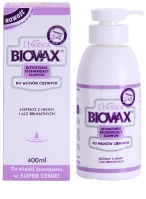 L'biotica Biovax Dark Hair sampon revigorant pentru par vopsit 1