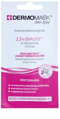 L'biotica DermoMask Anti-Aging festigende Maske bei Doppelkinn 40+