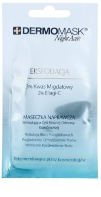 L'biotica DermoMask Night Active hámlasztó maszk a bőr felszínének megújítására